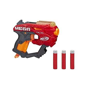 NERF Mega Talon Blaster -- Includes 3 Official Accustrike Mega Darts -- for Kids Teens Adults