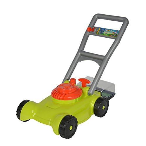 Androni Giocattoli- Tagliaerba con Raccoglitore Erba, Colore Arancione Verde, 107137716
