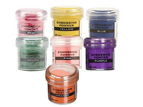 Ranger Rainbow Bundle: Ranger Embossing Powders Include 7 Jars | Red, Orange, Yellow, Green, Blue,...