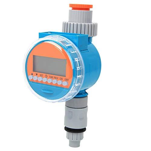 Bewässerungsregler, intelligenter automatischer Bewässerungs-Timer, Sprinkler-Timer mit Regensensor und wasserdichtem Dichtungsdesign für Gewächshauspflanzenblumen (Lake Blue)