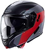 Caberg Horus Scout Casco para Moto, Accesorio Unisex para Adultos, Negro Mate/Rojo Fluorescente, Anthracite/Plateado, XL