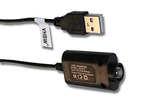 vhbw 0.25m USB Ladekabel für eGo E-Smart elektronische Zigarette, Shisha wie eGo, eGo-T, eGo-C, eGo-Twist, eVod, 510.