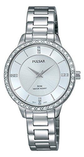Pulsar Damen Analog Quarz Uhr mit Edelstahl beschichtet Armband PH8213X1