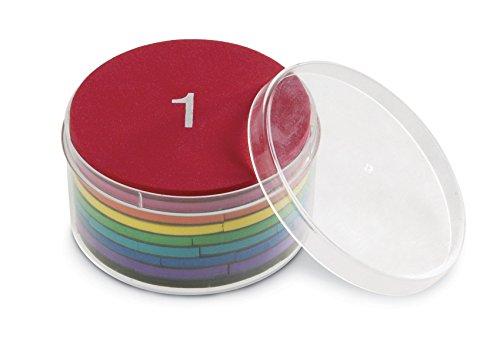 Learning Resources- Cerchi di frazioni magnetici in Schiuma Morbida Rainbow Fraction, Colore, LER0608