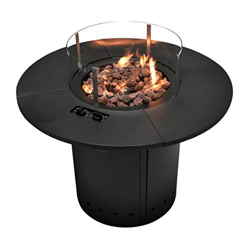 Grill Time Ambiente Feuertisch Feuerstelle Feuertisch und großflächiger Gartentisch in einem