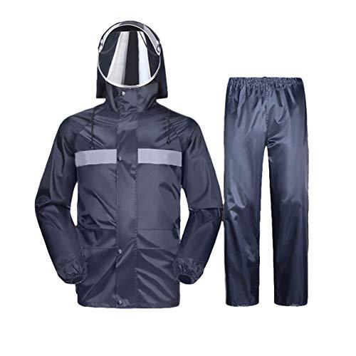 WYZDQ Pantalon de Split Raincoat Pluie Costume Adulte d'équitation Veste imperméable, Visage Full Body Anti-Liquide et Salopettes poussière,XXXL