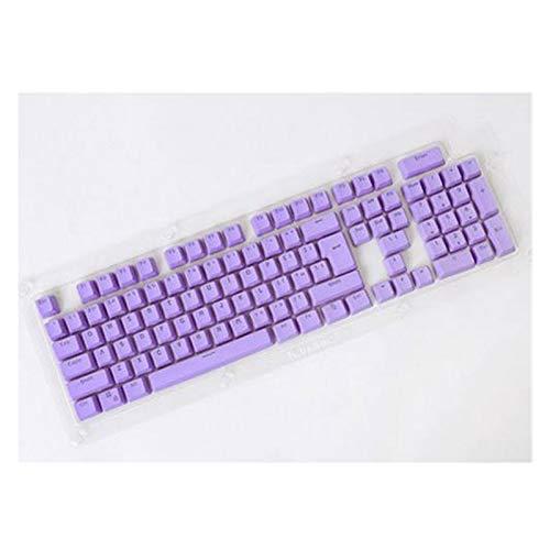 LXH-SH Suministros para computadora 104pcs keycaps Key Tapa Universal Conjunto de Teclas retroiluminado para Teclas mecánicas Llaves de Teclas Llaves de Teclado Accesorios (Color : Purple Powder)