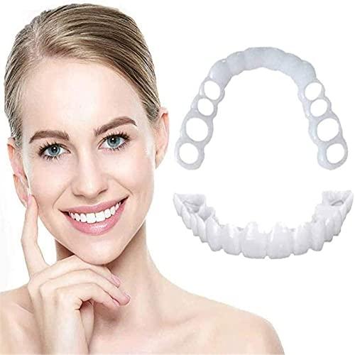 3 Pairs Teeth Veneers,Temporary Smile Teeth Veneers, Top And Bottom False Teeth Cosmetic Dental Veneers white,For dating and work