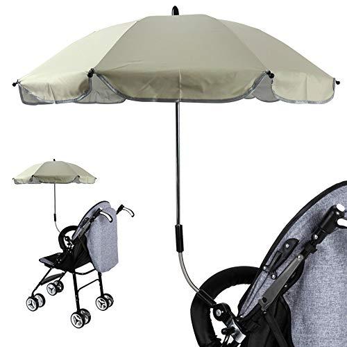 Universal Kinderwagenschirm Gebogen Sonnenschirm Regenschirm Sonnensegel Durchmesse 65cm UV-Schutz 50+ 57cm | für Kinderwagen Babywagen & Buggy Zubehör