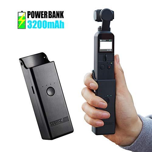 STARTRC OSMO Pocket Ladeschale Ladegerät,Handheld Halterung Power Bank Stand für DJI OSMO Pocket Charging Case Zubehör