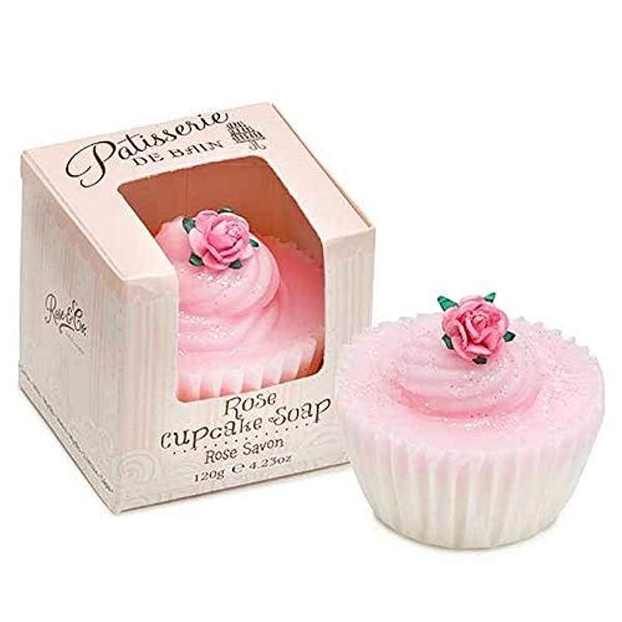 ガムジュニア対象[Patisserie de Bain ] パティスリー?ド?ベインは、カップケーキ石鹸120グラムのバラ - Patisserie de Bain Rose Cupcake soap 120g [並行輸入品]