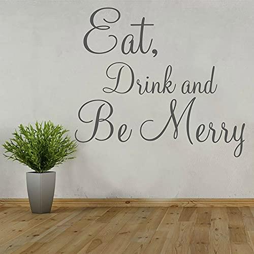 HGFDHG Cotizaciones de la Etiqueta de la Pared para la Comida y la Bebida, Etiqueta de la Pared de Vinilo Cocina Restaurante Comedor decoración de Interiores Letras Mural