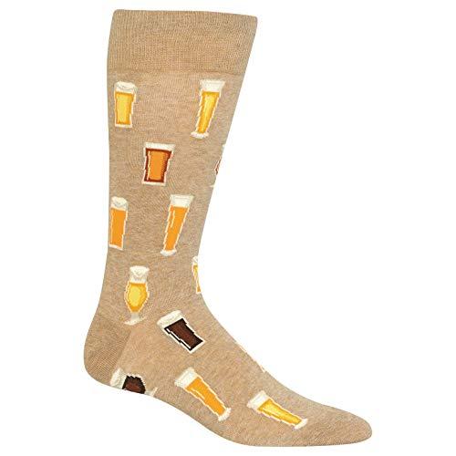 Hot Sox Beer Crew Socken 1 Paar, Herren 39-46 - Beige -