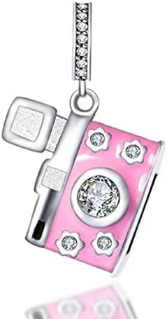 MEETCCY Car Keys Bike Suitcase Charms 925 Sterling Silver Charms Beads Black Enamel Charm and product image