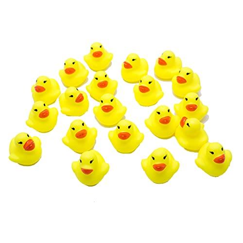 CHLD Badeente 20er Set, Quietscheentchen für Badewanne, und Deko, gelb