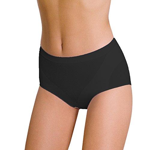POMPEA Slip Donna Contenitivo Modella e Contiene Senza Cuciture (L-XL, Nero)