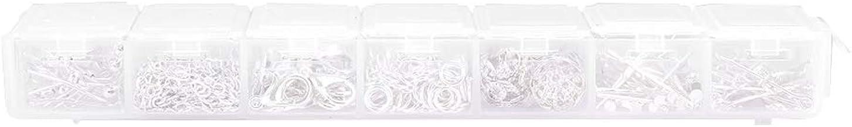 【𝐏𝐚𝐬𝐞𝐧】 met plastic doos springring, metalen karabijnsluiting, voor sieraden maken doe-het-zelvers