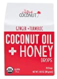 Organic Cough Drops, Coconut Oil and Honey throat drops by The Crafted Coconut, Relief from Cough, Sore Throat and Dry Mouth, Soothe and Coat The Throat, Ginger & Turmeric flavor