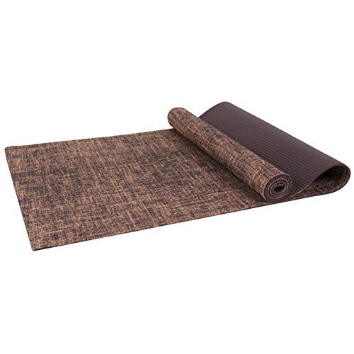 WanBeauty Yoga Mat Carpet Home Gym Fitness Exercise Workout Pad Anti-slip Jute Pilates Best for Yoga, Pilates, Exercise, Workout, Bikram Tan