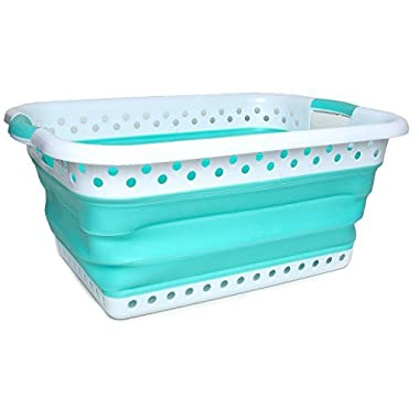 Collapsible Laundry Basket – Smart POP UP Space Saving Foldable Storage Container – EASY to use and carry – Versatile Portable Organizer