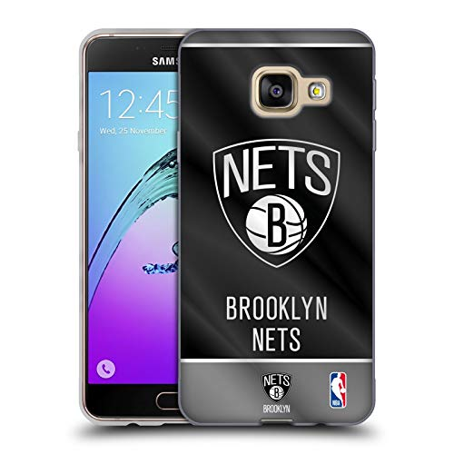 Head Case Designs Ufficiale NBA Banner 2019/20 Brooklyn Nets Cover in Morbido Gel Compatibile con Samsung Galaxy A3 (2016)