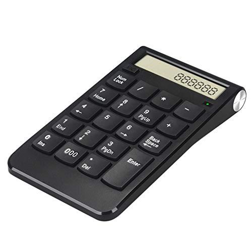 Tonquu Draadloze Numerieke Keypads met 2.4G Mini USB Ontvanger, Slim Ergonomische 20Keys Draadloos Toetsenbord Numerieke Numerieke Numerieke Numpad voor Laptop Desktop Computer PC