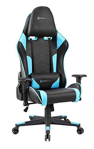 Newskill Kitsune - Silla gaming profesional (Inclinacion y altura regulable, reposabrazos 2D ajustables, base en nylon, reclinable 180º), Color Azul
