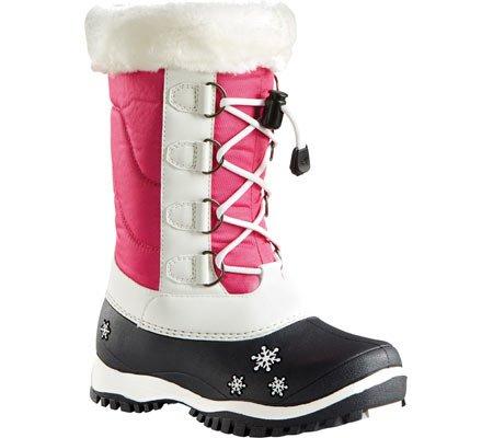 Baffin Girl's AVA Snow Boot, White/Fuchsia, 1 M US Little Kid