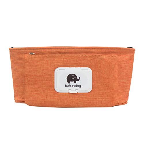YOUYUANF Almacenamiento Bolso de bebé Cochecito Accesorios Cochecito de niño Impermeable Color de Dibujos Animados Elefante Bolsa de Almacenamiento Bolso Colgante Bolso de mamá