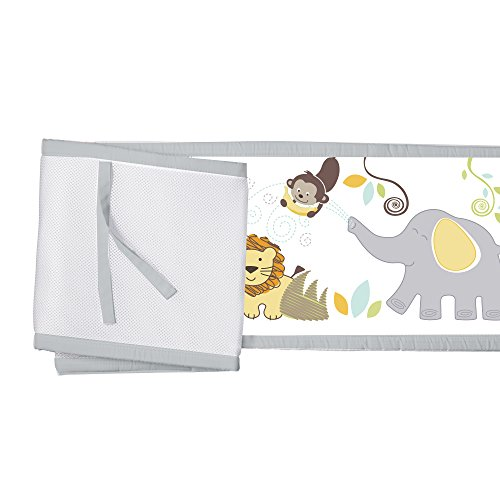 BreathableBaby Classic Breathable Mesh Crib Liner - Safari Fun Too