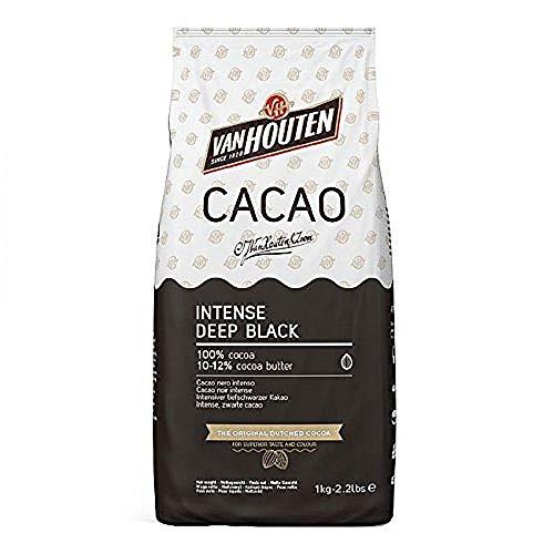 Intense Deep Black Kakao, Van Houten, 1 kg, Kakaopulver schwarz, schwarzer Kakao