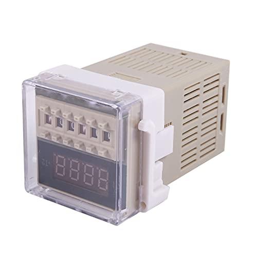 AC 220V 5A Doble tiempo programable Temporizador de tiempo de retraso Herramienta de dispositivo DH48S-S (Color : AC 220V)