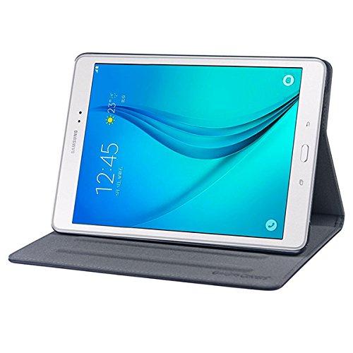 """Gecko Samsung Galaxy Tab A 9.7 Hülle Easy-click - Schwarz - Multifunktionelle Tasche bietet Schutz und Multimedia-Komfort / Cover mit Präsentationsfunktion - Tablethülle geeignet für Samsung Galaxy Tab A T550N / T555N (9.7\"""""""