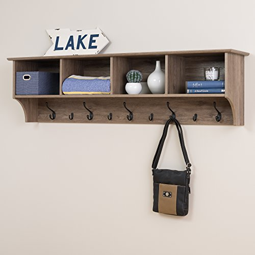 Prepac 60' Wide Hanging Entryway Shelf, Drifted Gray