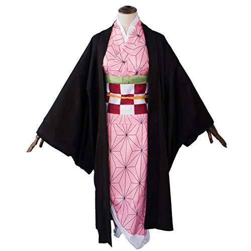 MAJOZ0 Demon Slayer Anime Kimetsu No Yaiba Kimono Traje Kamado Nezuko, disfraz de cosplay