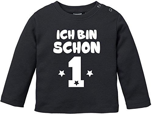 EZYshirt® Ich bin Schon 1   Bio Baumwolle Baby T-Shirt Longsleeve