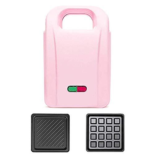 DX Sandwich Toastie Maker, Sandwichera de Relleno Profundo de tamaño Completo con Placas antiadherentes, 650W de fácil Limpieza, con luz indicadora, Calefacción automática, Rosa