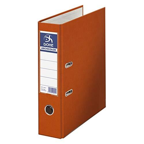 Dohe Archicolor - Archivador A4, lomo ancho, color naranja ⭐