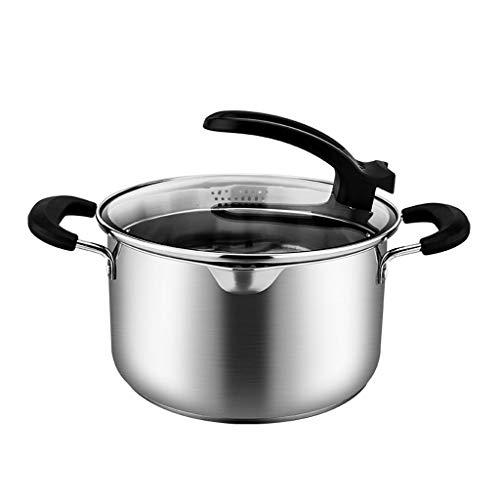 JXLBB Pot de soupe 304 Pot en acier inoxydable à double fond peut être un pot vertical