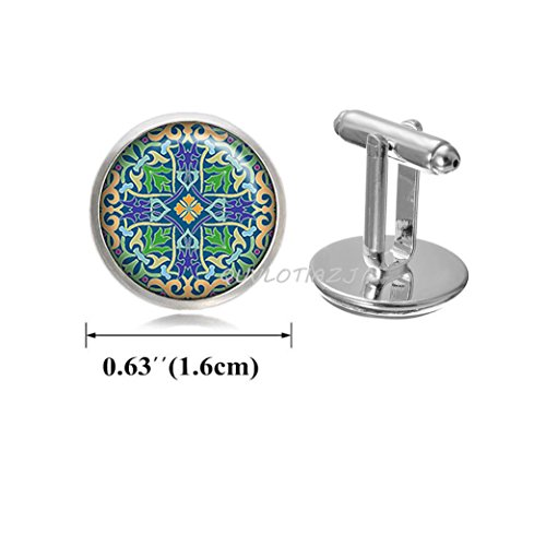 QUVLOTIAZJ Celtic Cross Cufflinks, Celtic Cross jewelry Celtic jewellery Celtic Cufflinks Celtic Cross Cufflinks religious Cufflinks silver cross jewelry,ot88 (A1)