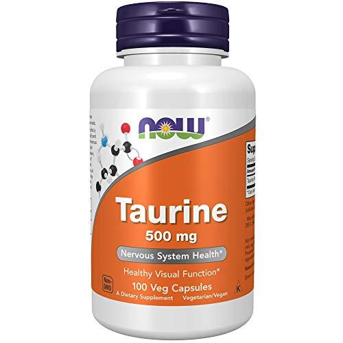 Now Foods, Taurin, 500 mg, 100 Kapseln, glutenfrei, sojafrei