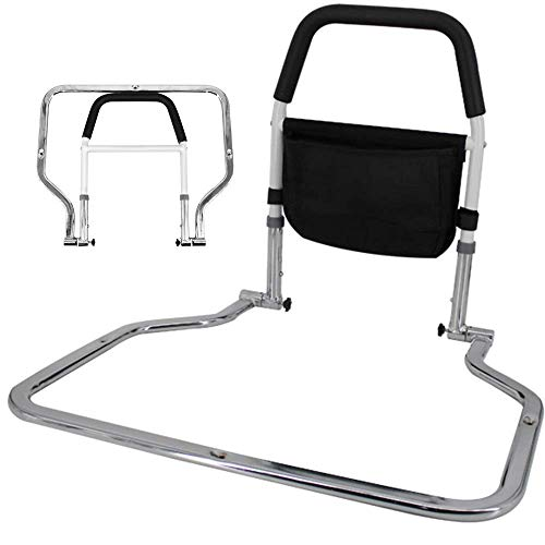 Chicti Bedopstahulp, standAssist bedframe voor ouderen, instelbare valbeveiliging aan de zijkant, leuning, handgreep
