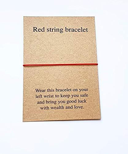 Red String Bracelet, Simple Thread Bracelet, Good Luck Bracelet, Red String Fate, Men Bracelet, Women Bracelet, Adjustable Bracelet.