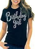 Birthday Shirts for Women - Girly Rhinestone Birthday Girl T-Shirt - Birthday Gifts for Adults and Teens - Large Black Tee(BdyGrl RS) Blk/Lrg