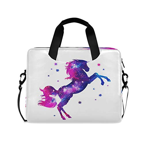 Computer Carrying Case for Adult Kids Laptop Bag Unicorn Computer Bags 13-15.6 inch Laptop Sleeve Case Laptop Shoulder Bag Laptop Carrying Bag with Strap Handle