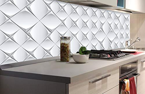 DIMEX LINE Küchenrückwand Folie selbstklebend 3D KUNSTWAND | Klebefolie - Dekofolie - Spritzschutz für Küche | Premium QUALITÄT - Made in EU | 180 cm x 60 cm