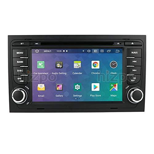 Ossuret Android 10 Radio estéreo para automóvil con Pantalla táctil de 7 Pulgadas Apta para Audi A4 S4 RS4 B6 B7 Seat Exeo + TV Digital Opcional DVR OBD2 Dab + Soporte Control del Volante