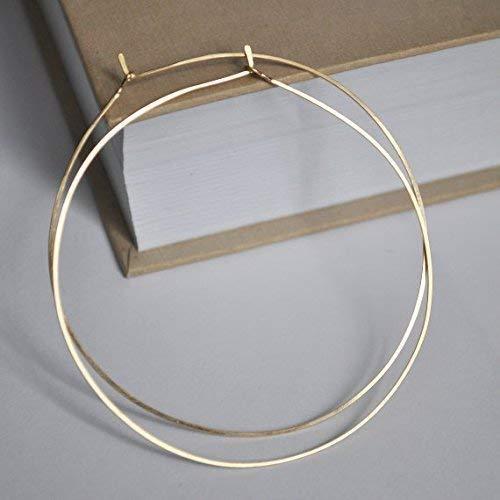 Hammered Gold Hoops 14kt Gold Filled Hoops 2 18 Large Gold Hoop Earrings Large 14KT Gold Filled Hoop Earrings Large Gold Hoops