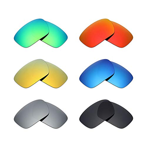 MRY 6Paar Polarisierte Ersatz Gläser für Oakley Badman Sonnenbrille