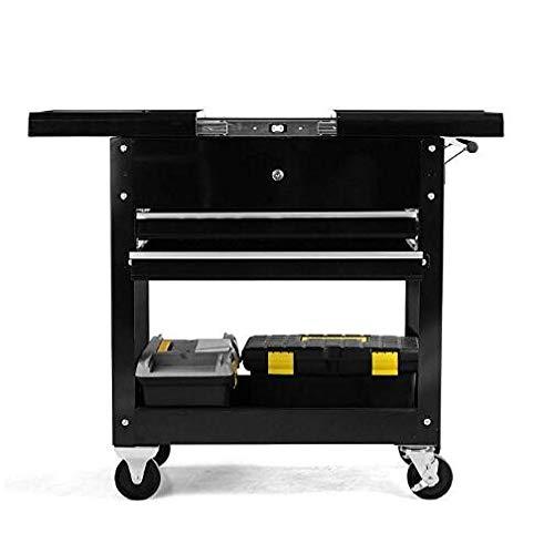 On Shine Rolling Tool Cart,Steel Drawer Tool Storage Rack,Black